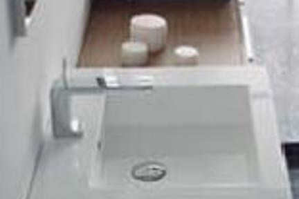 כיור אמבטיה אקרילי L60. כיור אקרילי 60X48  לבן
