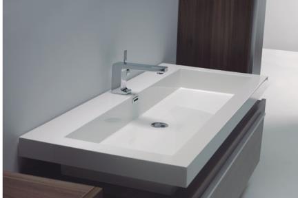 כיור אמבטיה אקרילי L96. כירם אקרילי/כיור שולחנים.  כיור על\חצי בפנים אקרילי  100X48  לבן