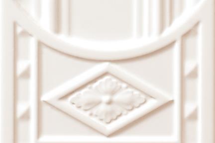 אריחי וינטג' לחיפוי קיר עם אלמנטים 1015. יחידת סיומת תחתונה לבנה לעמוד  15.2*15.2