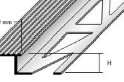 """פרופיל  למדרגה AL29. פרופיל מדרגה  1.1X250 ס""""מ  גימור: סטן"""