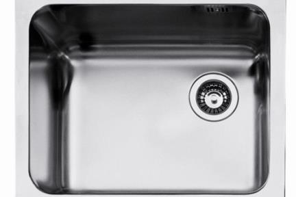 כיור למטבח עשוי נירוסטה NR111. כיור בודד נירוסטה למטבח.