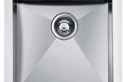 כיור למטבח עשוי נירוסטה NR114. כיור נירוסטה בודד למטבח- חור מהמשטח.