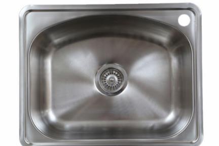 כיור למטבח עשוי נירוסטה NR5848. כיור נירוסטה למטבח 58*47.