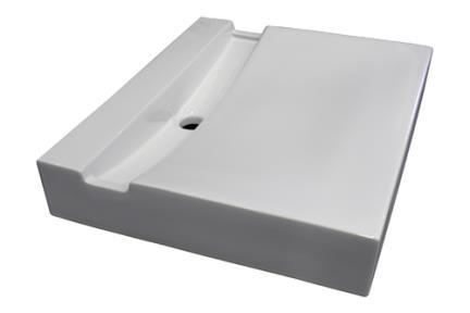 כיור מונח לחדר אמבטיה L74. כיור צונמי+תעלה.  גודל: 50*60.