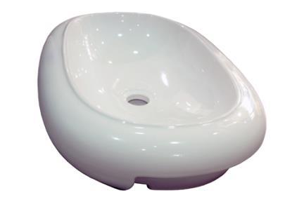 כיור מונח לחדר אמבטיה L244. כיור חצי שולחני אליפסה.  גודל: 42*60.
