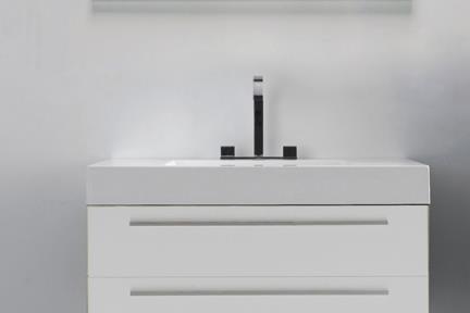 ארונות אמבטיה לאחסון  6730-1. ארון לבן 2 מגירות + כיור אקרילי.  גודל:48*73.