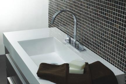 כיור אמבטיה אקרילי L6100. כיור משטח אקרילי לארון 6110/6100.  גודל:48*100.