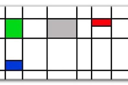 אריחים דקורטיבים גאומטרים P191. דקור אפור-ירוק-כחול-אדם מט.  גודל: 30*60.