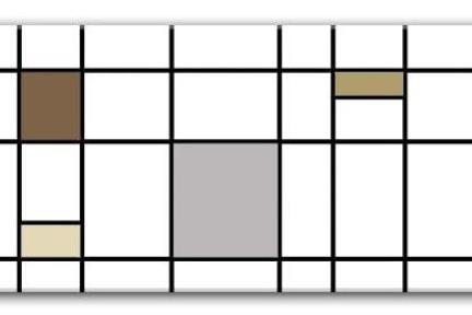 אריחים דקורטיבים גאומטרים P192. דקור אפור-חומים מט.  גודל: 30*60.