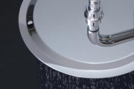 """אביזרי אמבט טוש למקלחת של חברת Bongio 883R. ראש טוש דק 30 ס""""מ"""