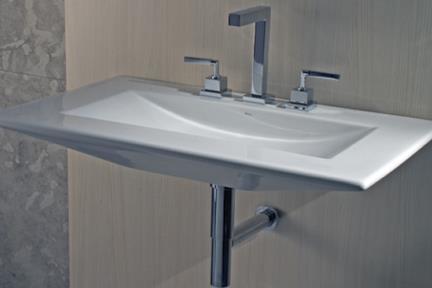 כיור קיר תלוי לאמבטיה L600. כיור קיר- פנים מעוגל.  גודל: 50*80.