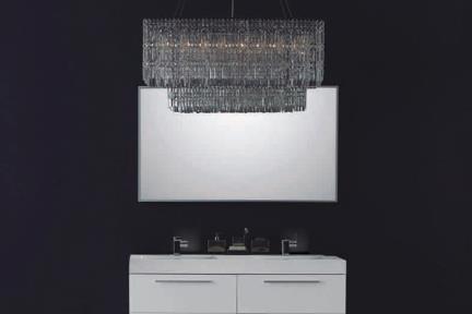 ארונות אמבטיה לאחסון  6138-1. ארון לבן מבריק + כיור אקרילי.