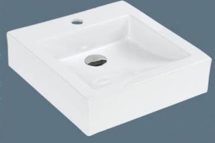 כיור מונח לחדר אמבטיה B4300. כיור על מרובע.  גודל: 43*45