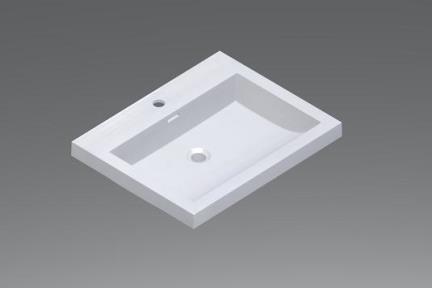 כיור אמבטיה אקרילי L6006. כיור אקרילי לבן.  גודל: 48*60
