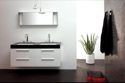 כיור אמבטיה אקרילי L6139. כיור אקרילי שחור.  פנים לבן.