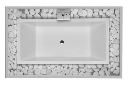 אמבט בעיצוב מודרני BT1806. אמבטיה + מדרגה + מסגרת עץ  גודל: 90*180