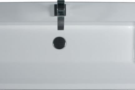 כיור קיר תלוי לאמבטיה 8310. כיור מלבני חצי בפנים.
