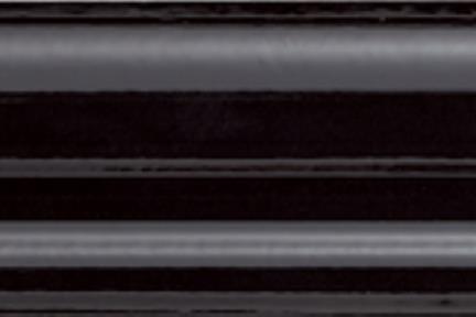 """פרופיל  לגימור 30 ס""""מ K530-9. קרניז שחור מבריק.  גודל: 5*30"""