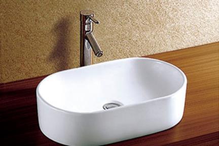 """כיור מונח לחדר אמבטיה L550. כיור מונח.  גודל: 55*33 ס""""מ.  גובה: 13 ס""""מ."""