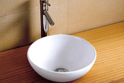 """כיור מונח לחדר אמבטיה L28. כיור מונח.  גודל: 28*28 ס""""מ.  גובה: 11 ס""""מ."""