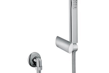 אביזרים לאמבטיה ראשי מקלחת מבית Bongio 51838. מזלף + צינור + נקודת מים