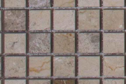 אריחי פסיפס לחיפוי קיר מאבן 3657. גודל: 30*30  פסיפס בז מבריק + אפור מט.