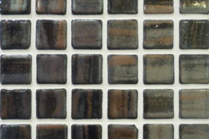 אריחי פסיפס לחיפוי קיר מזכוכית 3051. פסיפס 2.5 שיש שחור-חום.  גודל: 33*33