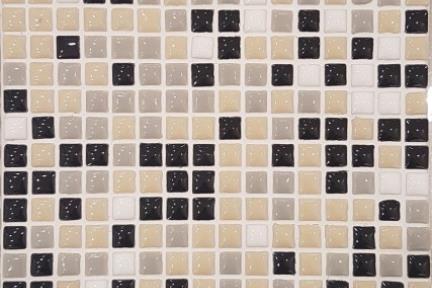אריחי פסיפס לחיפוי קיר מקרמיקה 3022. פסיפס אפור שחור בז' לבן 1*1  גודל: 30.5*30.5