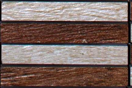 אריחי פסיפס לחיפוי קיר מקרמיקה 3291. פסיפס עץ דומינו.  גודל 30*30