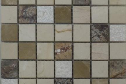 אריחי פסיפס לחיפוי קיר מאבן 3662. פסיפס אבן רב צבע.  גודל: 30*30