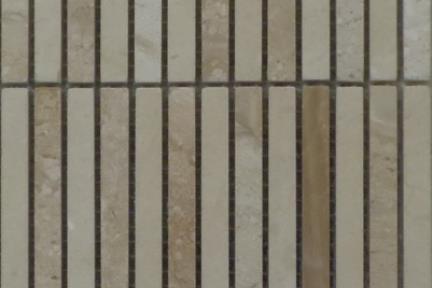אריחי פסיפס לחיפוי קיר מאבן 3666. פסיפס אבנים דקות מרפיל - בז'  גודל: 30*30