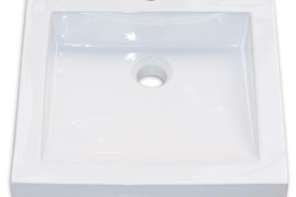 כיור מונח לחדר אמבטיה B4300. כיור על מרובע.  גודל: 45*43