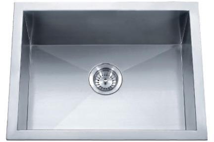 כיור למטבח עשוי נירוסטה NR5643. כיור מטבח נירוסטה.   פינות חדות.  גודל 56*43