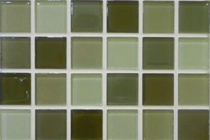 אריחי פסיפס לחיפוי קיר מזכוכית 4173. פסיפס אפור-ירקרק, גודל 30/30