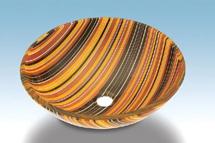 כיור אמבטיה מונח עשוי זכוכית GG59. כיור זכוכית קוטר 42
