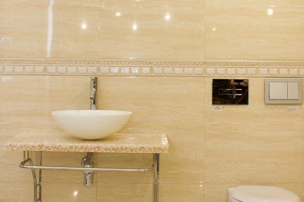 כיור אמבטיה מונח עשוי זכוכית GG4320. כיור זכוכית לבן.  גודל: קוטר 42