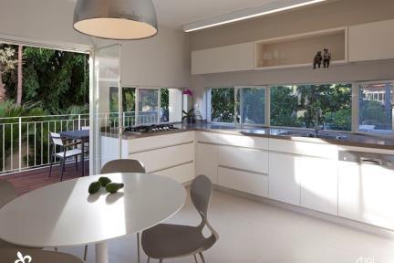 מטבח.    תכנון ועיצוב: ליאת דביר-רותם.  צילום: שי אפשטיין.
