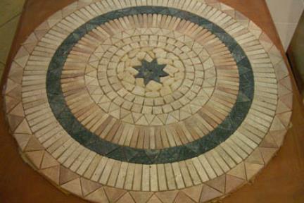 "אריחים דקורטיבים מאבן ST1001. שטיח מאבן  קוטר 100 ס""מ"
