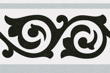 אריחי ריצוף וינטג' מצויר C803-123. פס ענתיקה אפור-תכלת, 20*20