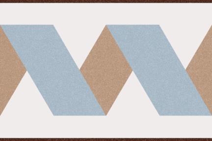 אריחי ריצוף וינטג' מצויר C808-123. פס ענתיקה תכלת בז', 20*20