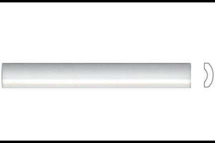 """פרופיל  לגימור 15 ס""""מ 1530. פס בומבטו לבן מבריק, גודל 2X15"""