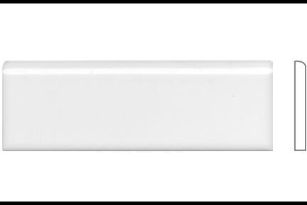 """פרופיל  לגימור 15 ס""""מ 1531. סיומת קצה מעוגל, לבן מבריק, גודל 5X15"""