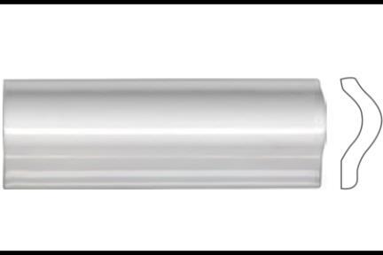 """פרופיל  לגימור 15 ס""""מ 1532. קרניז הפרדה, לבן מבריק, גודל 5X15"""