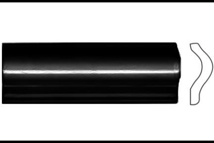 """פרופיל  לגימור 15 ס""""מ 1532-09. קרניז הפרדה, שחור מבריק, גודל 5X15"""