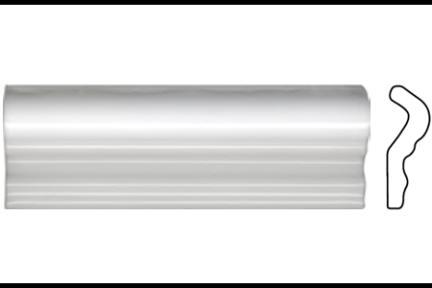 """פרופיל  לגימור 15 ס""""מ 1533. קרניז לבן מבריק,  גודל 5X15"""