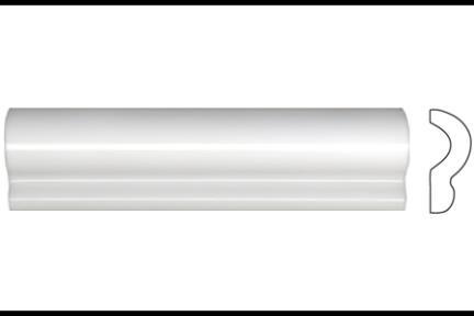 """פרופיל  לגימור 20 ס""""מ 2036. קרניז לבן מבריק, גודל 5X20"""