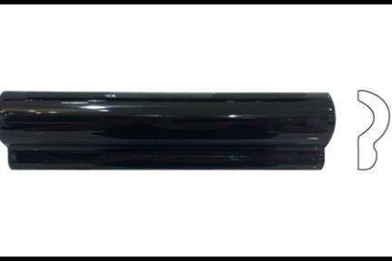 """פרופיל  לגימור 20 ס""""מ 2036-09. קרניז שחור מבריק, גודל 5X20"""
