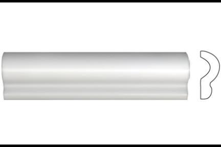 """פרופיל  לגימור 20 ס""""מ 2036-11. קרניז לבן מט, גודל 5X20"""