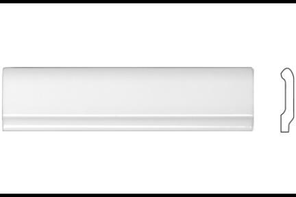 """פרופיל  לגימור 20 ס""""מ 2035. פס סיומת לבן מבריק, גודל 5X20"""