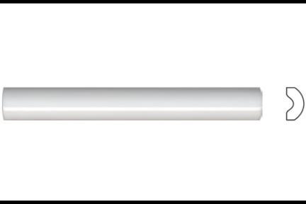"""פרופיל  לגימור 20 ס""""מ 2033. פס בומבטו לבן מבריק, גודל 2.5X20"""